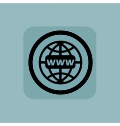 Pale blue global network sign vector