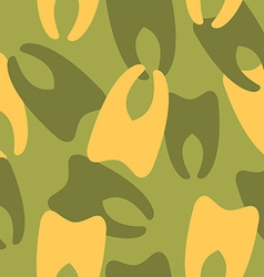 Military camouflage from teeth dental army texture vector