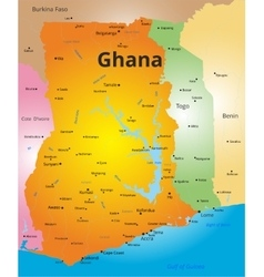 Color map of ghana vector