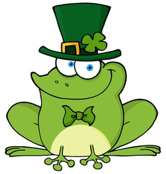 Happy Leprechaun Frog vector image