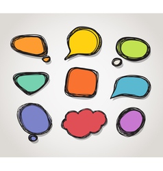 Speech bubble frames vector