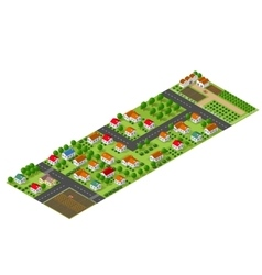 Isometric perspective farms vector