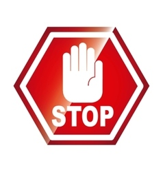 Stop signal isolated icon design vector