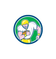 American football fullback circle retro vector