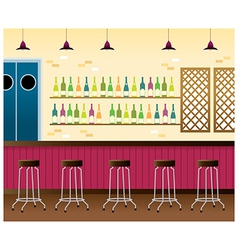 Bar Interior Background vector image