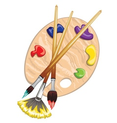 Brushes and palette8 vector