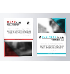 Cover design blue and red Template brochure vector image vector image