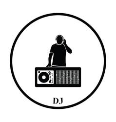 DJ icon vector image vector image