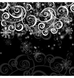 Elegant christmas black and white background vector