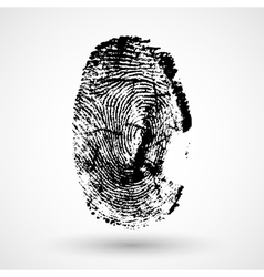 Fingerprint isolated on white vector image