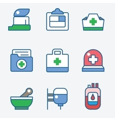 Health and medical care icons vector