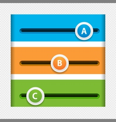 Infographic sliders vector