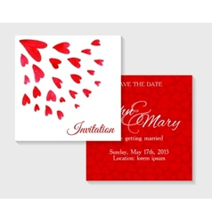 invitation cards with watercolor elements vector image vector image
