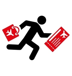 Late passenger flat icon vector
