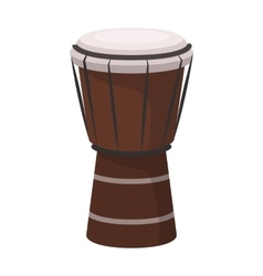 National brazilian drum icon in cartoon style vector image