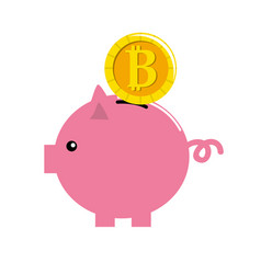 nice pig to save coin currency broken vector image vector image