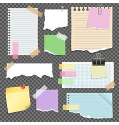 Note Papers Set vector image