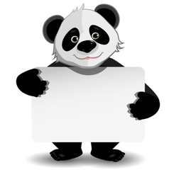 panda with white background vector image vector image