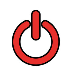 power button isolated icon vector image