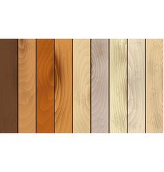 Realistic wooden texture striped set vector