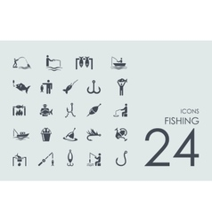 Set of fishing icons vector image