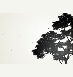 Silhouette of a tree vector