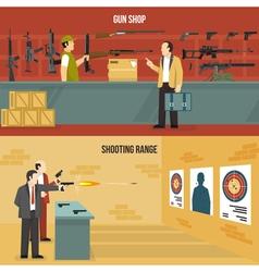 Weapons guns banners vector