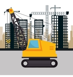 Under construction machinery icon vector
