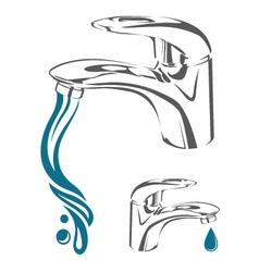 Water tap image vector