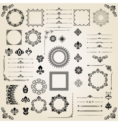 Vintage set of elements vector