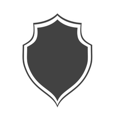 shield protection insignia security dark vector image