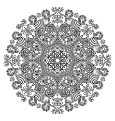 Circle lace ornament round ornamental geometric d vector