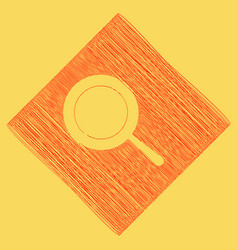 pan sign  red scribble icon obtained as a vector image