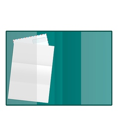 Open folder with paper and envelope isolated on vector