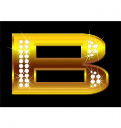letter b vector image