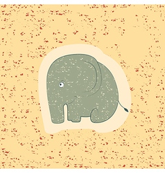 Children print funny elephant vector