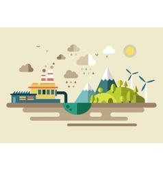 Urban ecology environmental protection vector