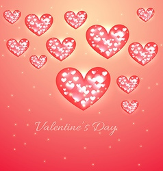Valentine day heart background vector