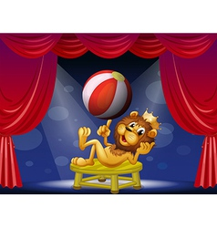 A lion king performing on stage vector image
