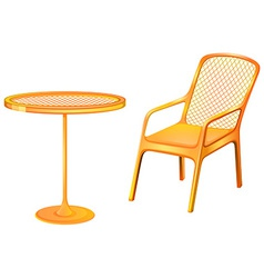 A table and chair furniture vector