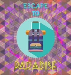 Abstract summer time infographic escape to paradis vector