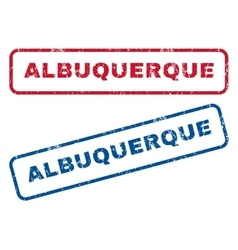 Albuquerque rubber stamps vector