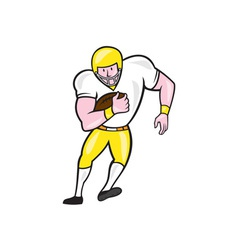 American football fullback front retro vector