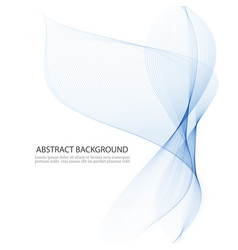 bluetransparentvertical wave on white vector image vector image