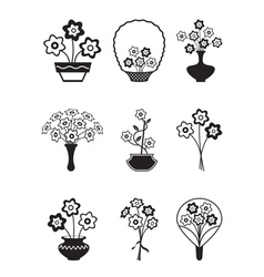 Bouquets of flowers vector image vector image