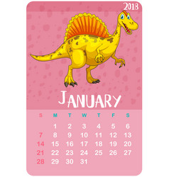 calendar template for january 2018 vector image vector image