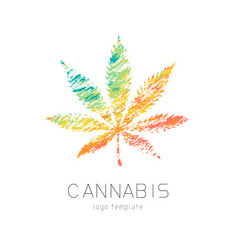 Cannabis creative logo vector