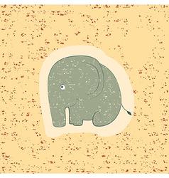 Children print funny elephant vector