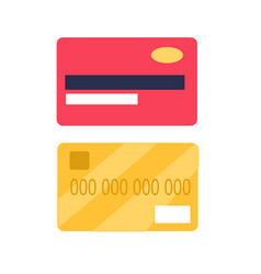 credit cards from two sides view flat icon vector image