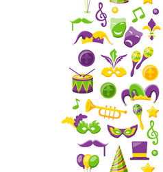 Cute background for mardi gras and carnival vector